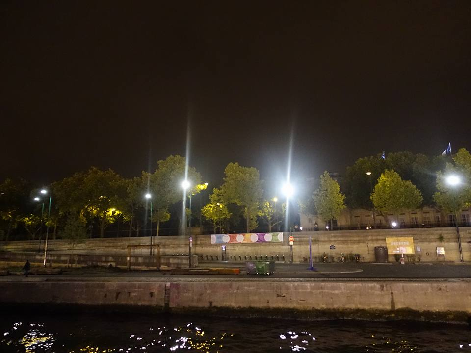 Night boat ride down the Seine