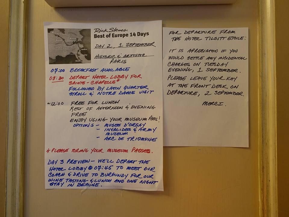 "Rick Steves ""Best of Europe 14 Days"" Day #2"