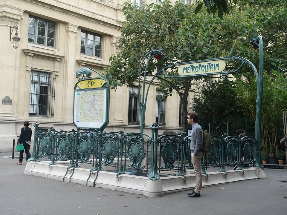 Original Preserved Design of an Entrance to the Paris Subway