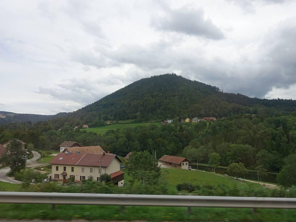 Coach ride from Paris to Lauterbrunnen