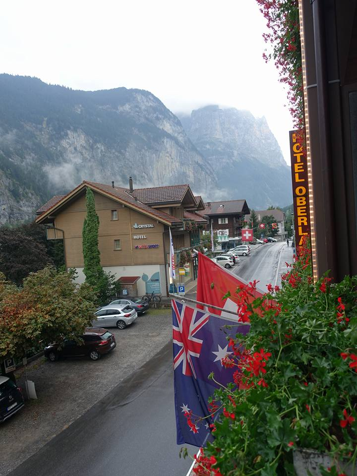 View from Hotel Oberland, Lauterbrunnen, Switzerland