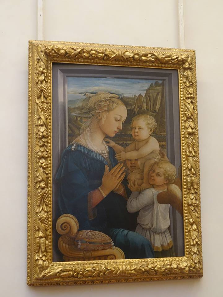 Madonna with Child and two Angels by Filippo Lippi at Uffizi Gallery