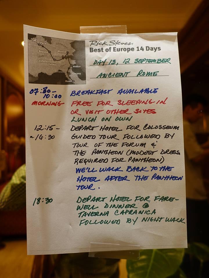 "Rick Steves ""Best of Europe 14 Days"" Day #13"