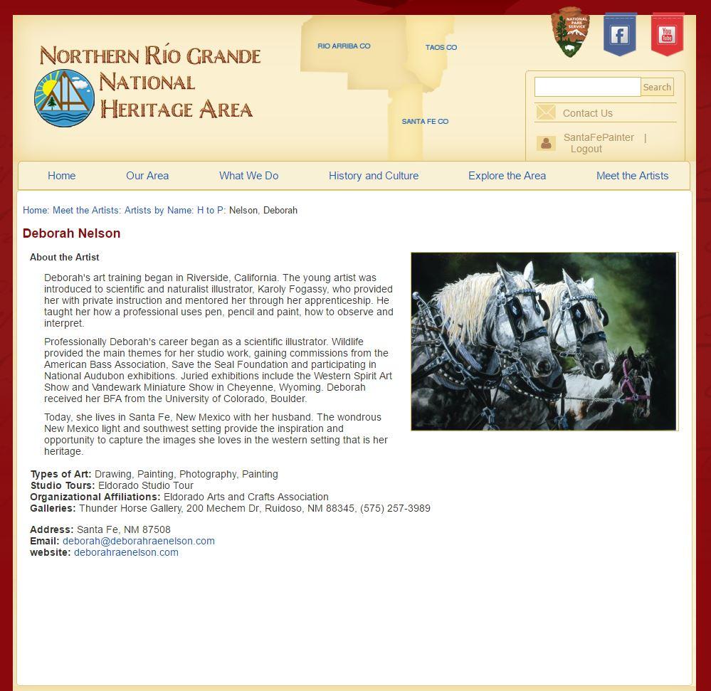 Rio Grande National Heritage Area's artists