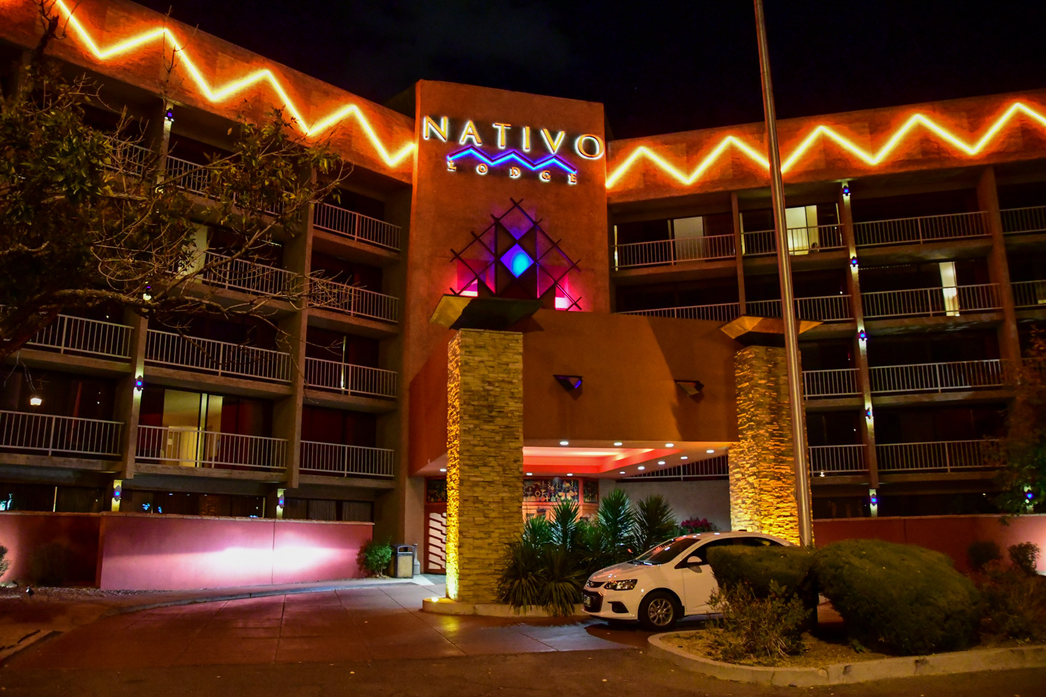 We stayed at the  Nativo Lodge  just minutes away from Balloon Fiesta Park, in anticipation of our very early start in the morning.
