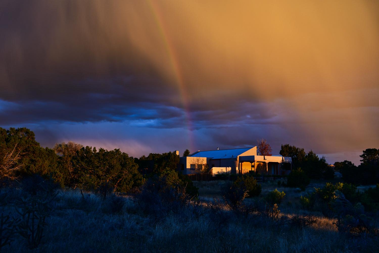 Rainbow Over Sangre de Cristo Mountains