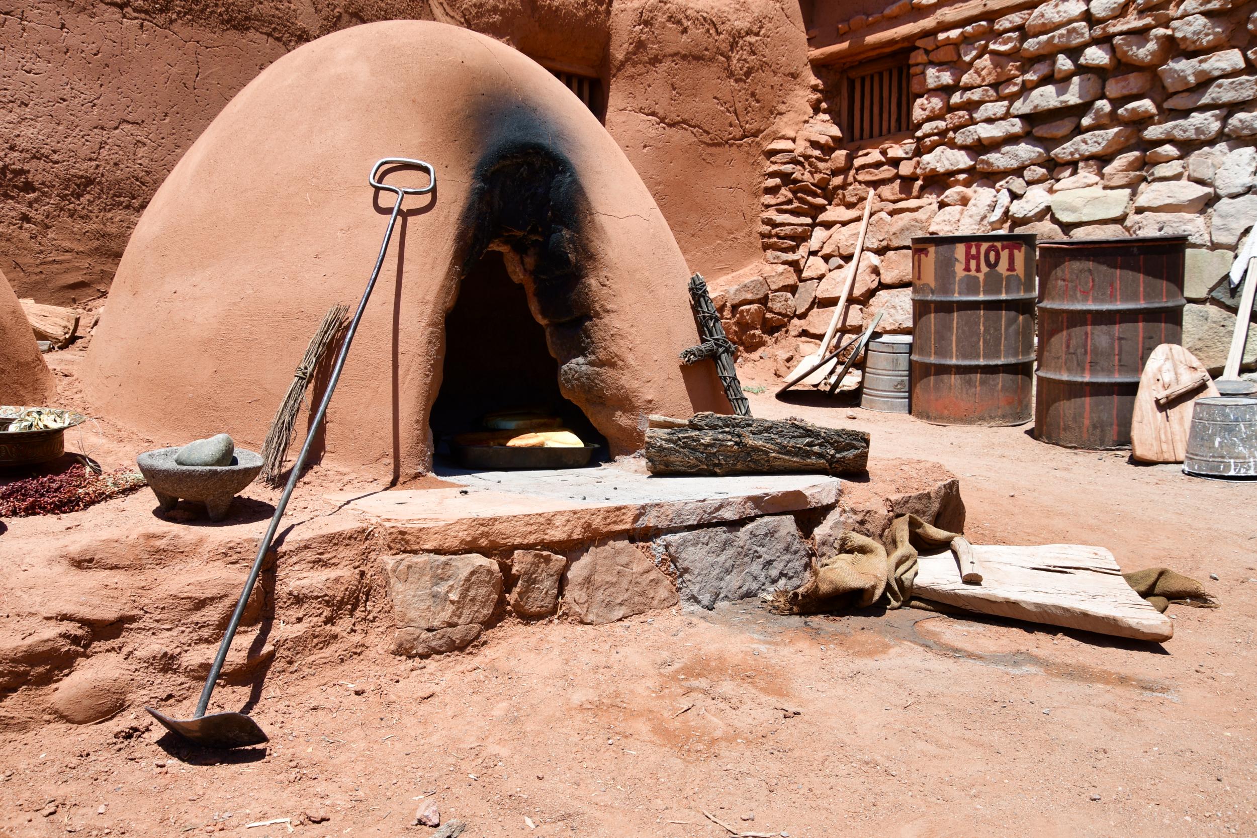 Bread Baking in the Horno at the Golondrinas Placita
