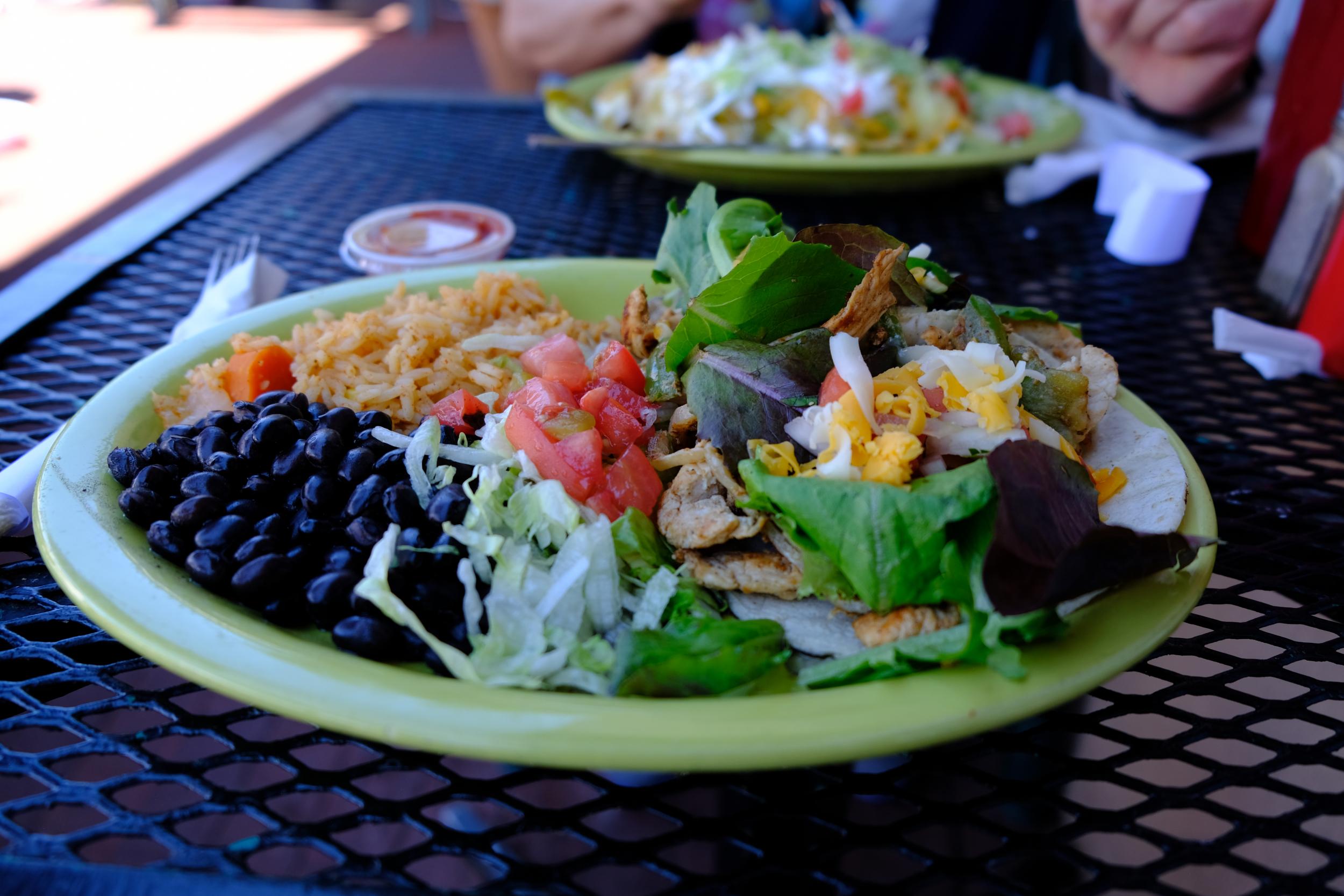Chicken Fajita Tacos at the Burrito Company