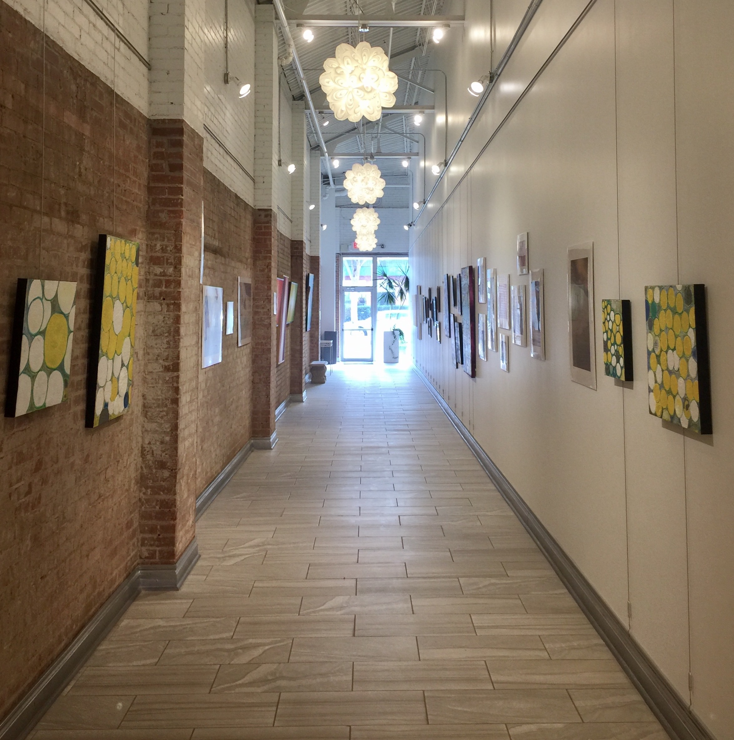 Installation view, facing South