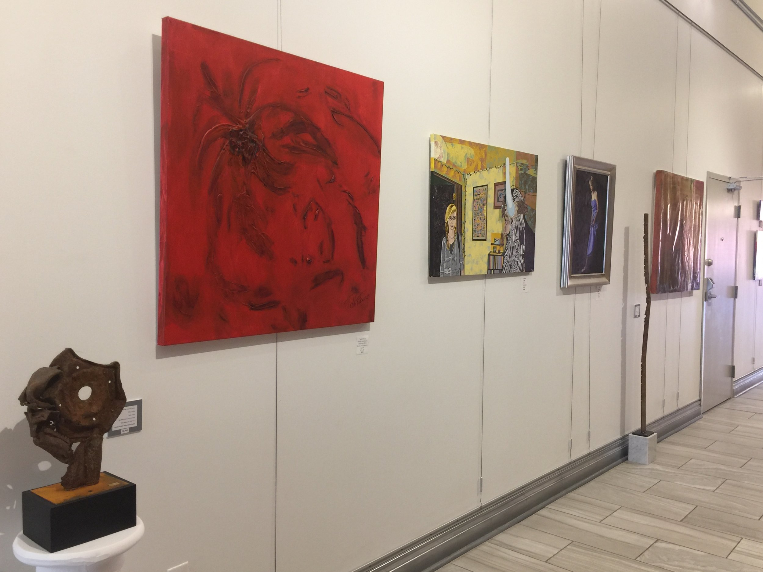 Sculpture by Michael Hanes, painting by Teddi Fokas and Ryan Pack