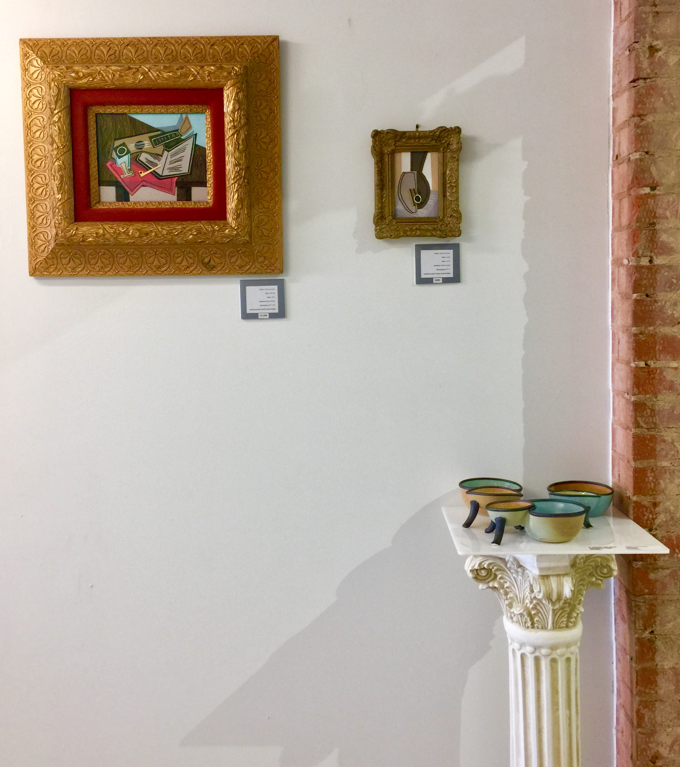 Mixed media by Michael Hanes, sculpture by Jeremy A Fineman