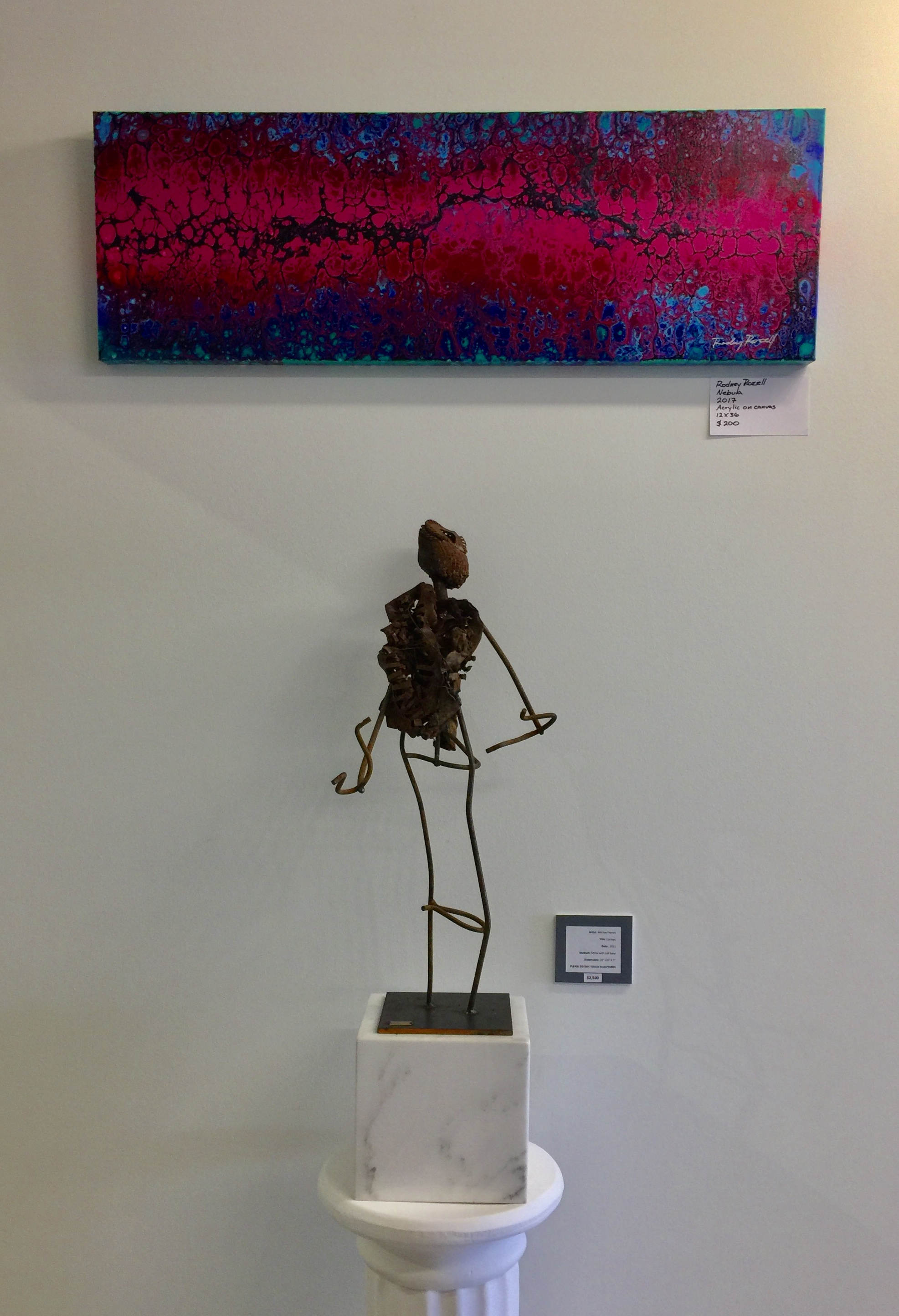 Painting by Rodney Rozell, sculpture by Michael Hanes