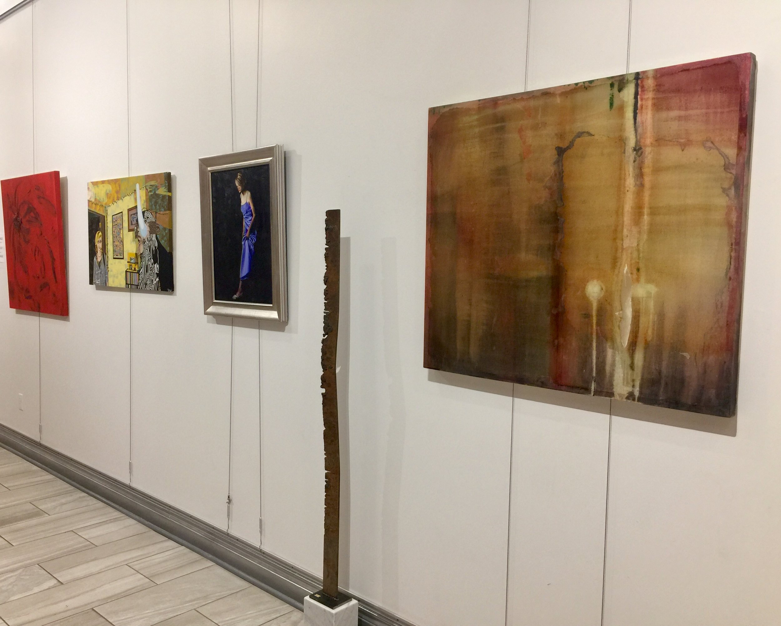 Painting by Teddi Fokas, Ryan Pack, and adrienne wright, sculpture by Michael Hanes