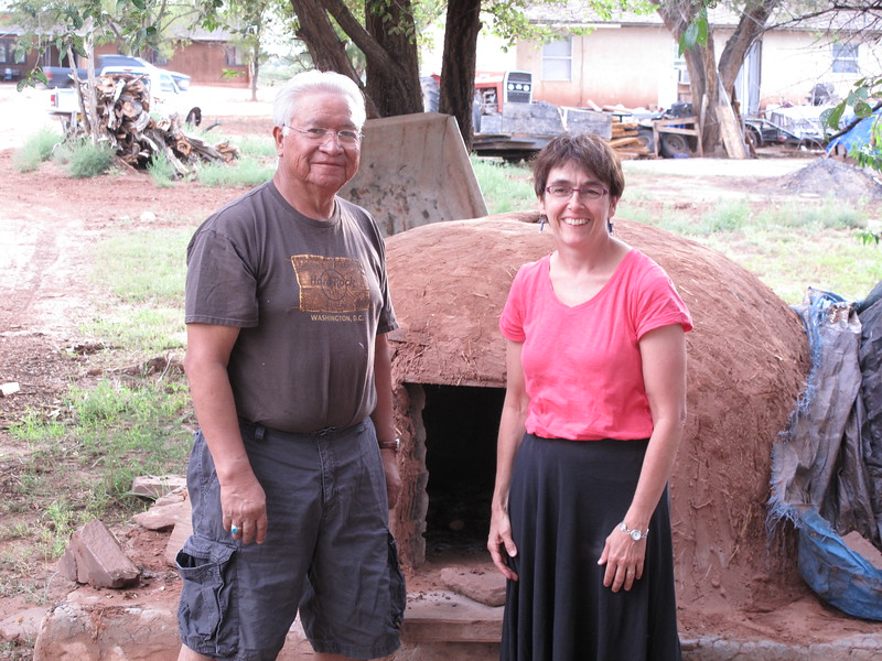 Farlen and mom at oven.jpg