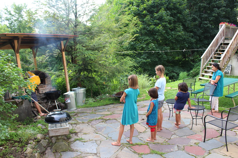 Pulling coals with Daughty girls and Tim and Chetna girls.jpg