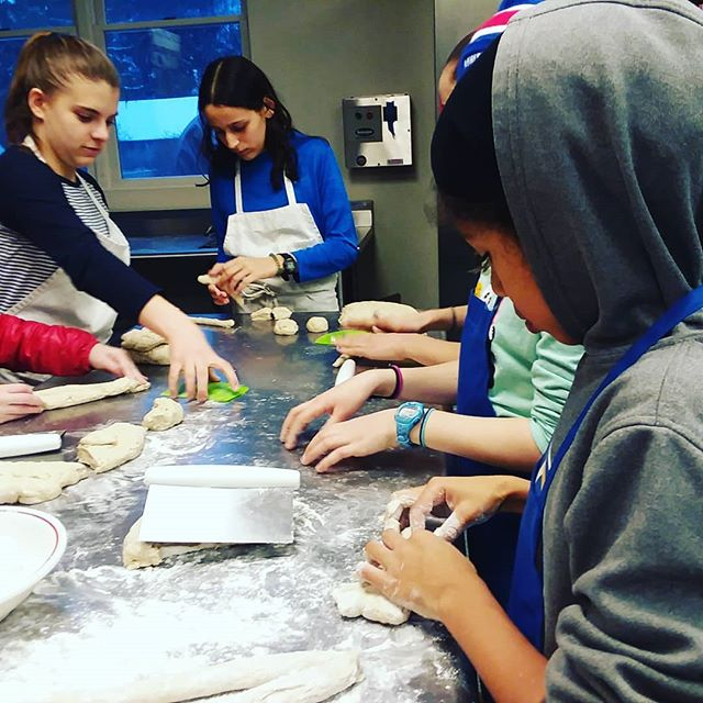 Teaching with bread feels like cheating. Give kids dough and a little bit of space, and their curiosity becomes their instruction, the material is their teacher.  #handsonlearning #breaducation #bread #kidscooking #artisinal