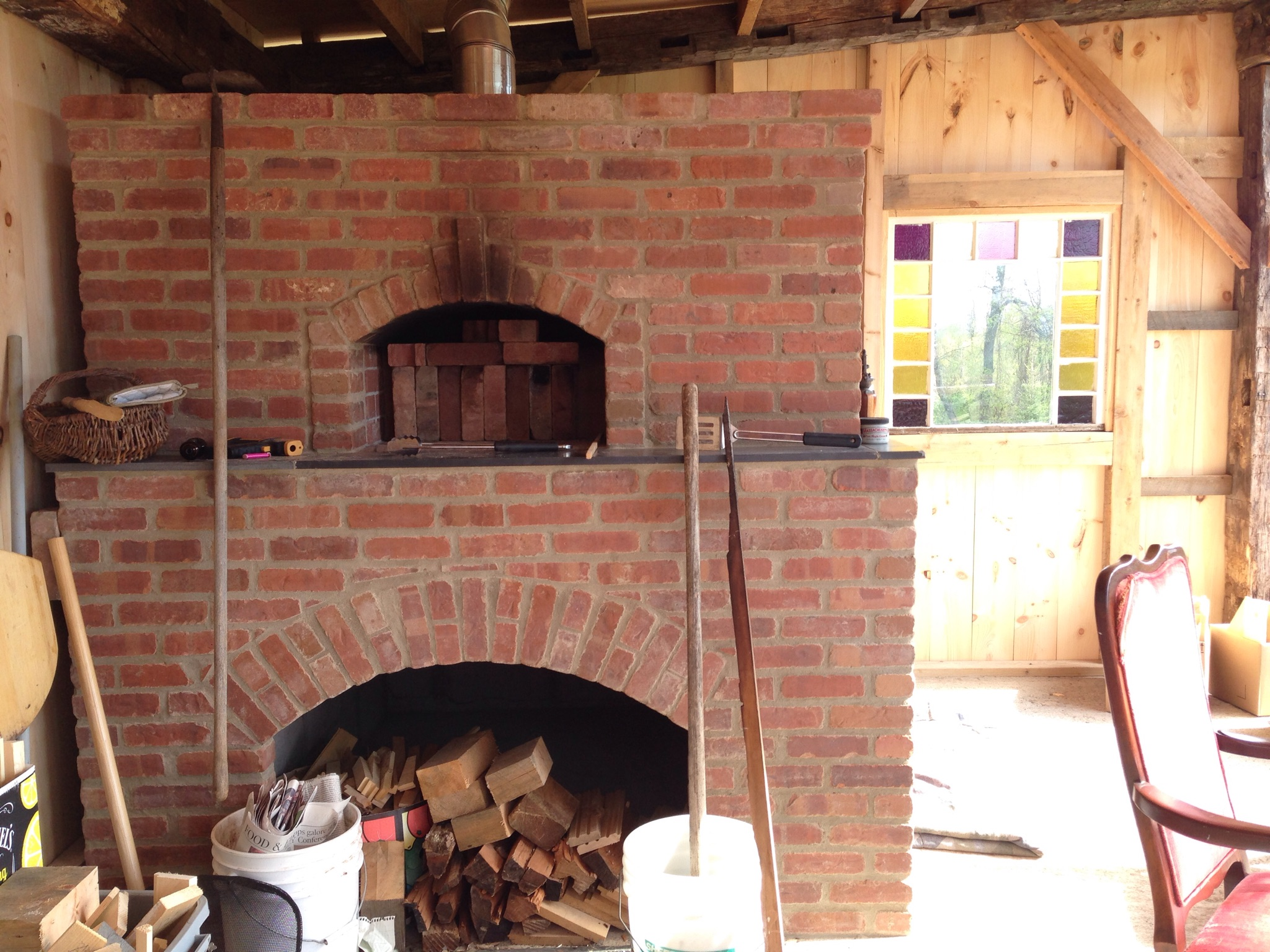 A brick oven built at Everyday Farm in Gill, MA