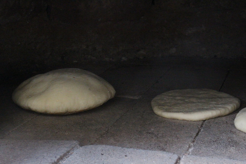 Pita in oven.jpg
