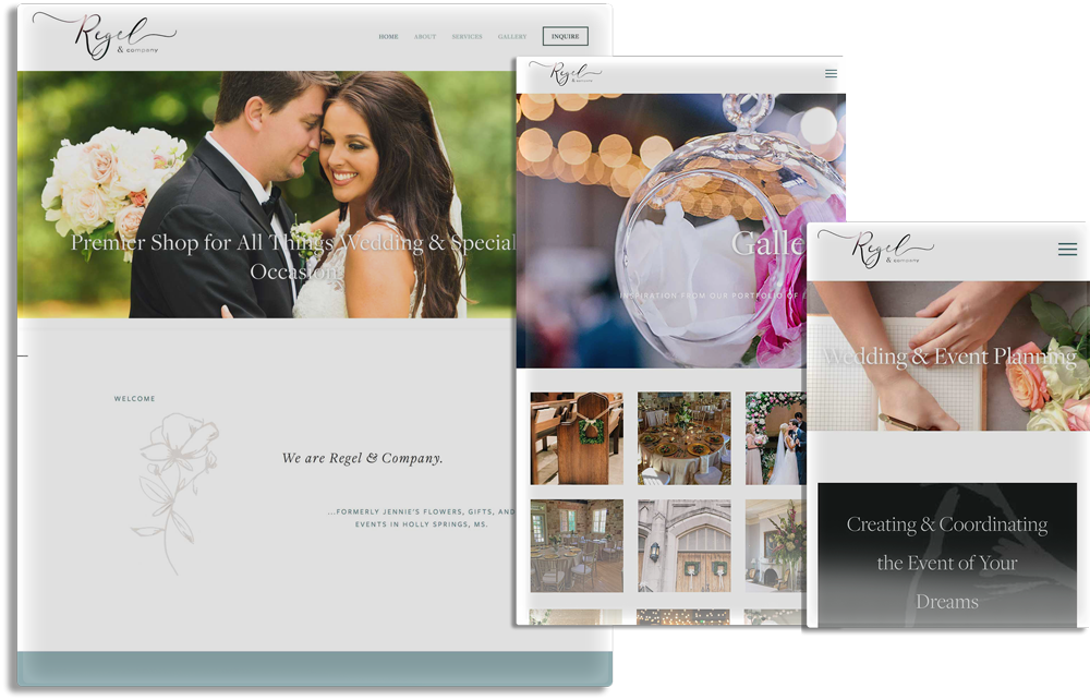 Website design - REGEL & COMPANY
