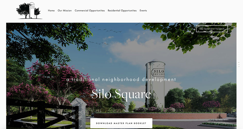 WEBSITE DESIGN    |   Silo SQuare is a new retail, business, and housing development in southaven, MS. CURRENTLY the site displays open real estate for businesses and HOMEOWNERS. with a clean, more modern foundation, this site will build into a community resource for not only silo square but the southaven community at large.    visit site