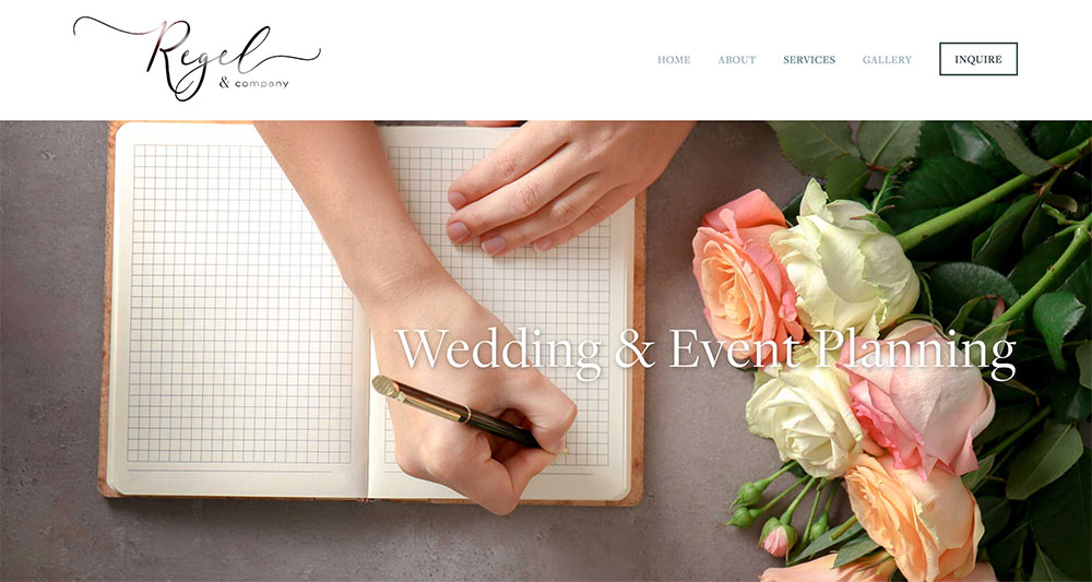 WEBSITE DESIGN    |   Your premier shop for all things wedding and special occasion! We went for a design that was clean, elegant, and timeless. The logo is a great mix of script+sans-serif font that appeals to all ages. And of course photography was HUGE for this project.    Visit site