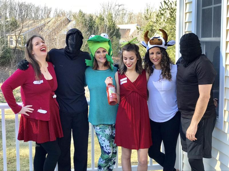 My family dressed up as plagues for passover