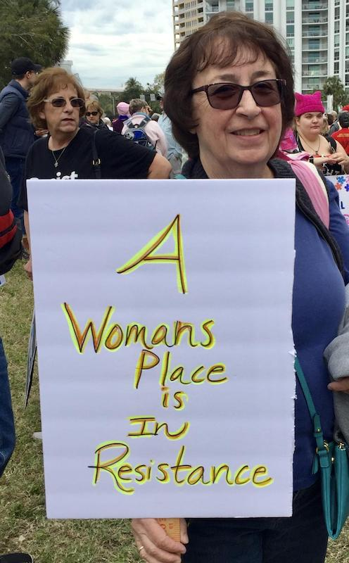 Signs at the Women's March in Sarasota, Florida