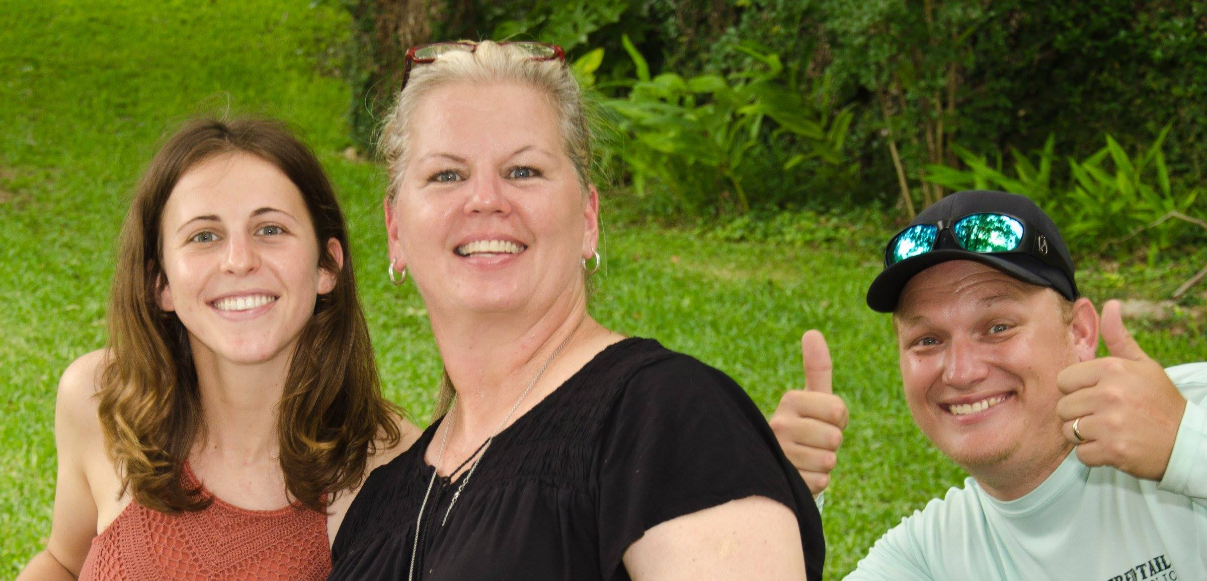 Me, my momma, and a photobombing Jacob. Photo by Uncle Greg