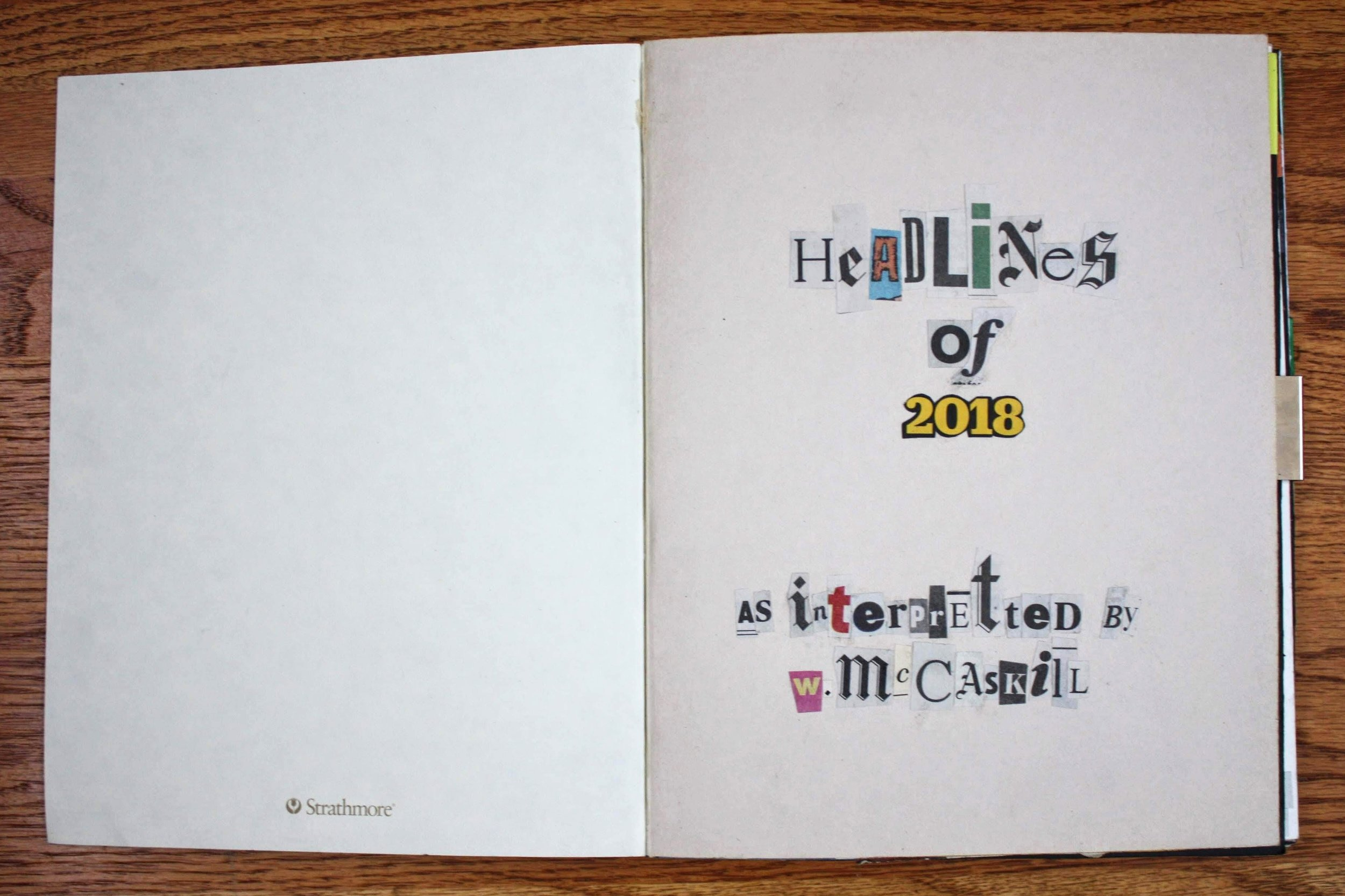 Title page to my news sketchbook