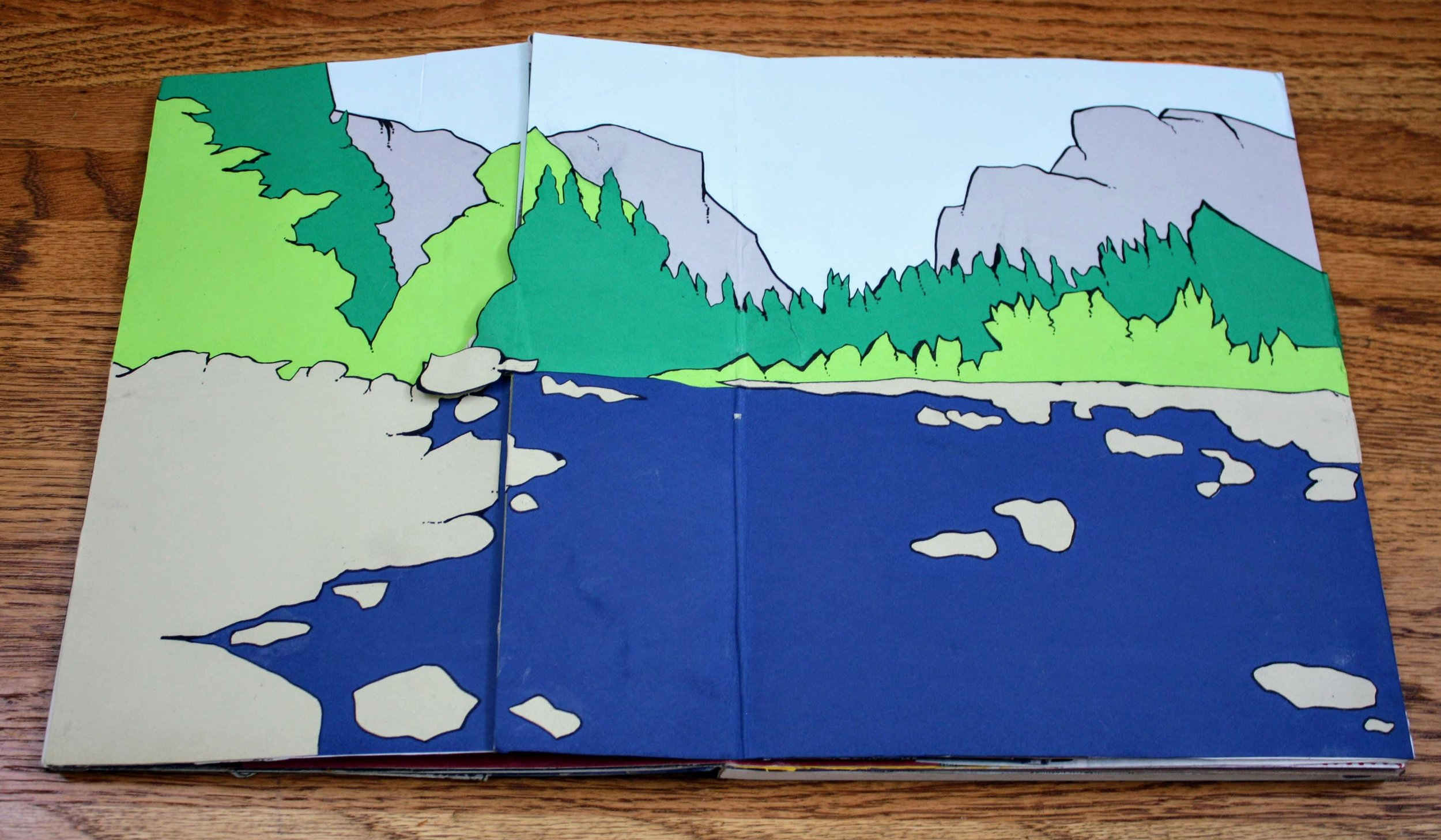 Gatefold cover to a climate change section