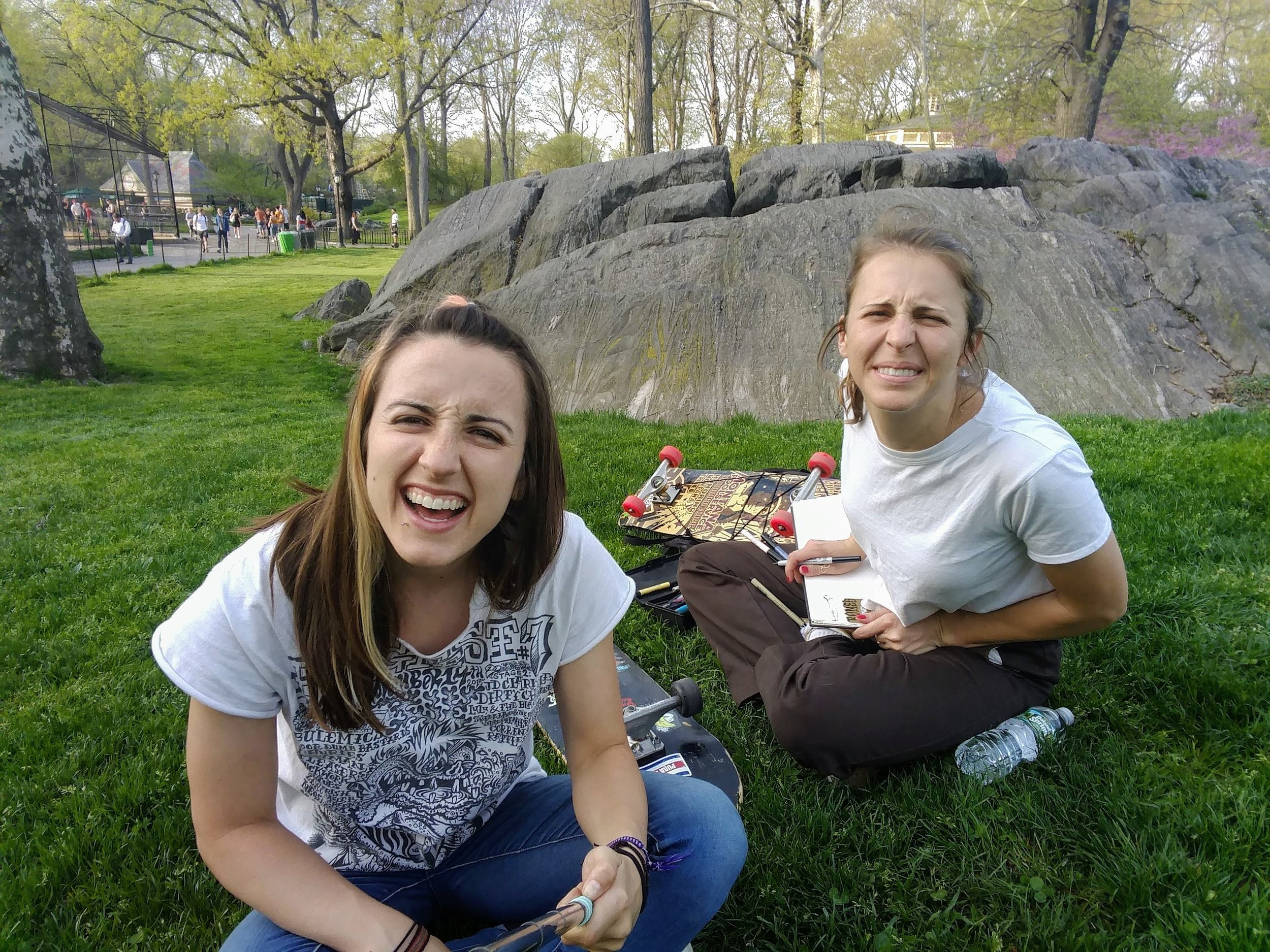 Lounging and drawing in Central Park: attempt 1