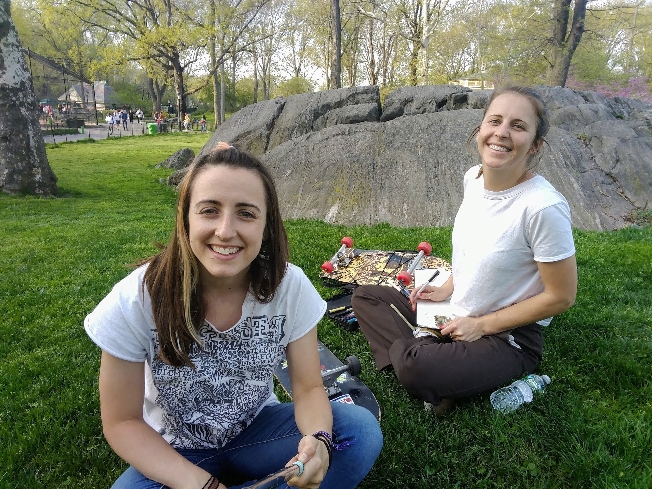 Lounging and drawing in Central Park: attempt 2