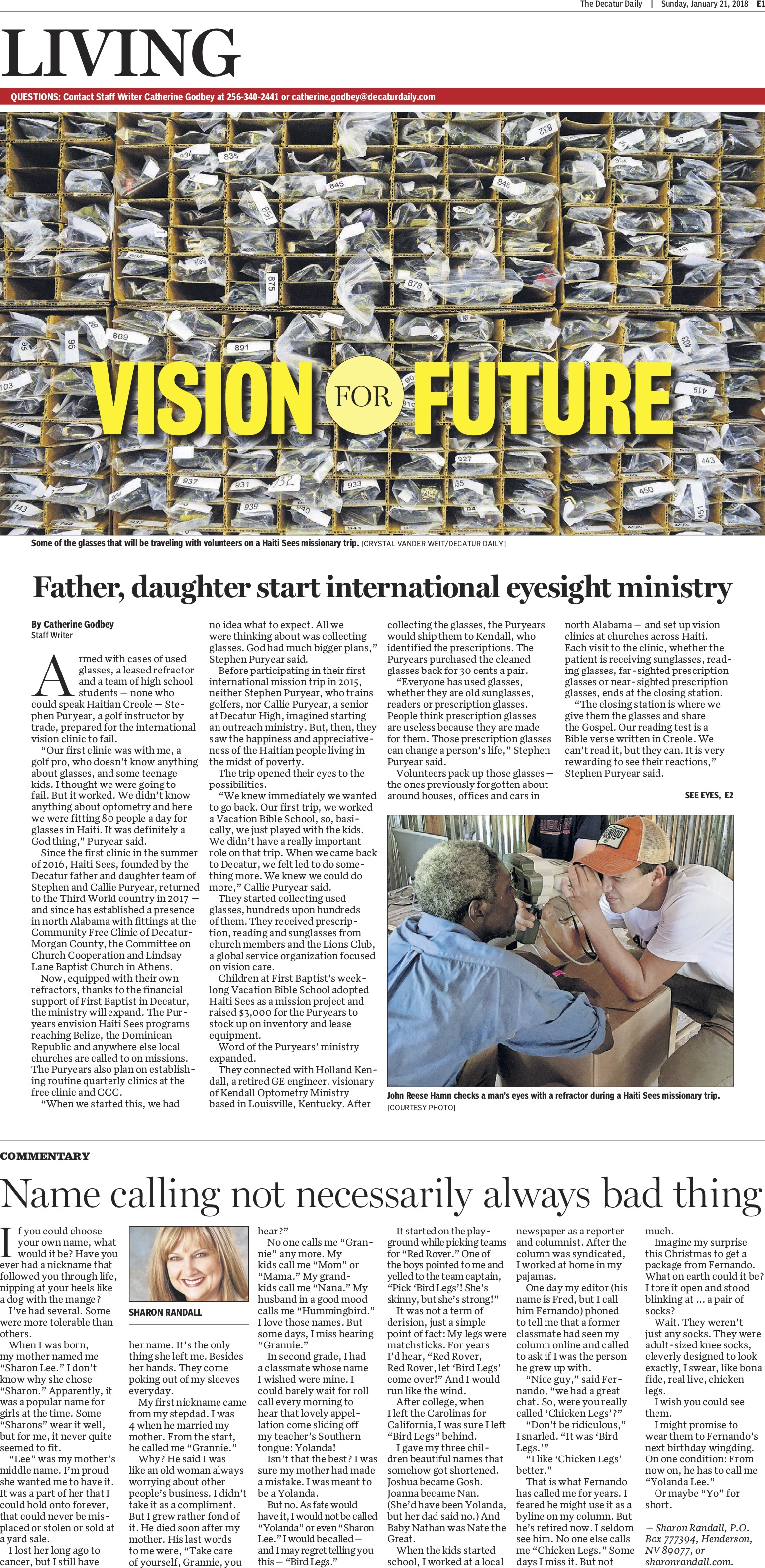 E1 of The Decatur Daily (Decatur, AL) 1/21/2018