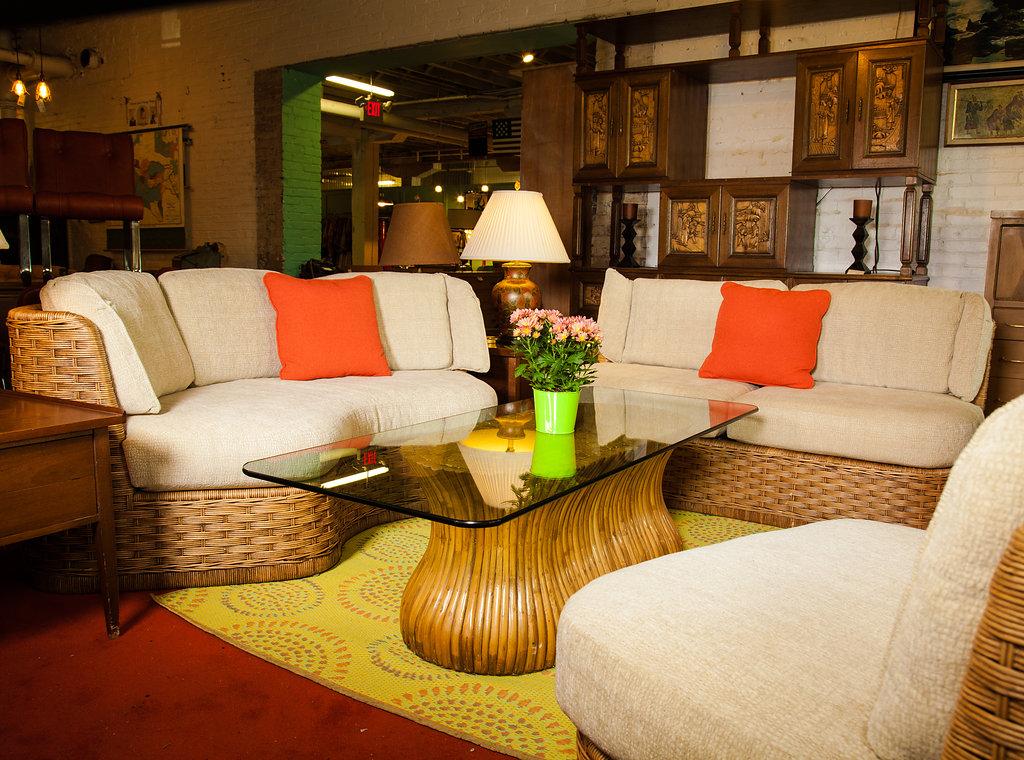 Living Room Wicker Set