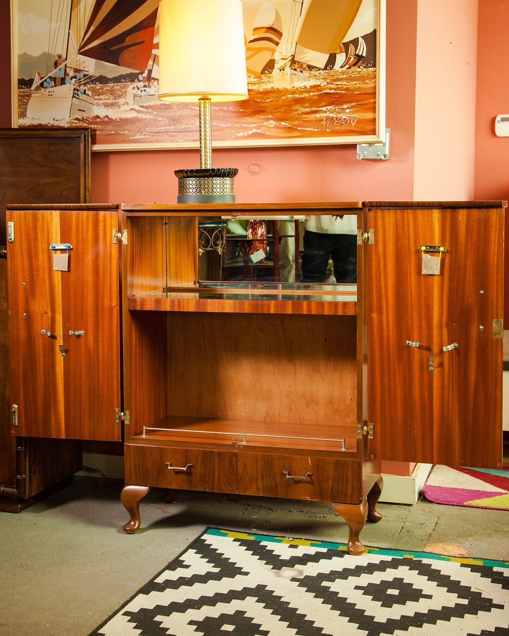 1960s Extended Bar with Light