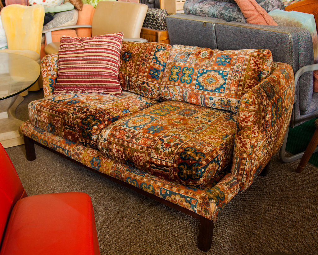 Go BOHO bold with this love seat or go home! For the right hippie-like space, this piece of furniture will be a big hit.