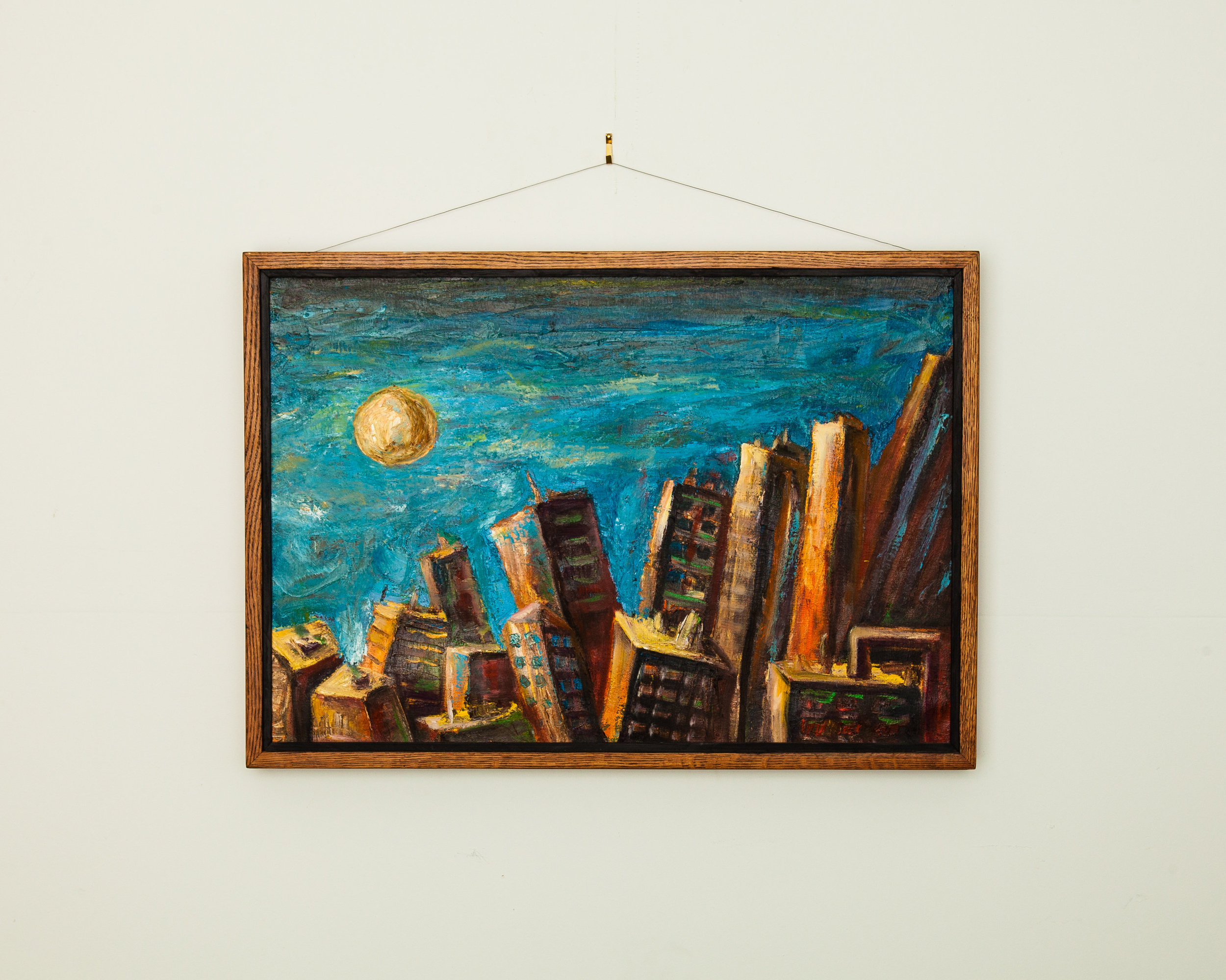 Don't forget about  wall art  that brings the city into your office.