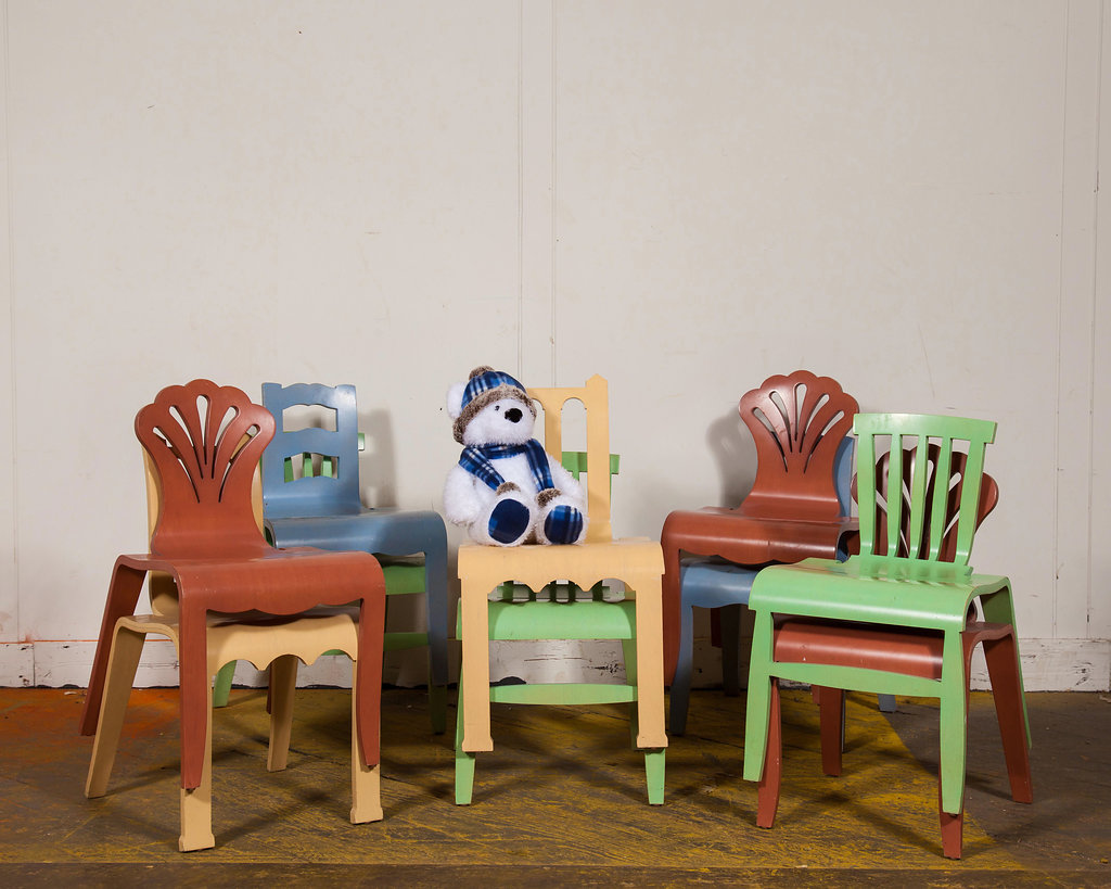 These colorful chairs are great for children's play areas, whether it's at home, play or school.