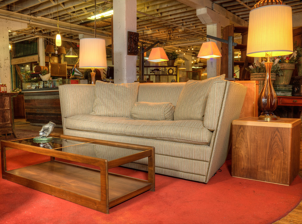 Going natural can be so simple with this super comfortable vintage Baker Sofa.