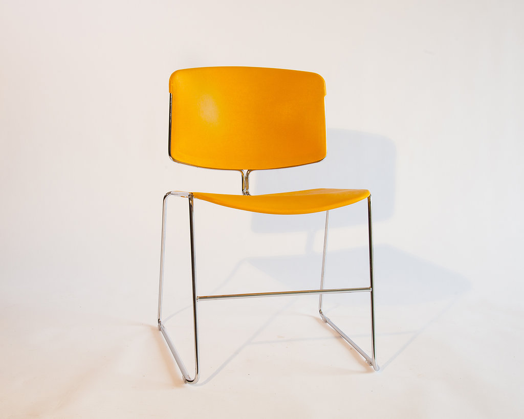 1970s  Steelcase  Yellow Office Chairs (Set of four) - $400