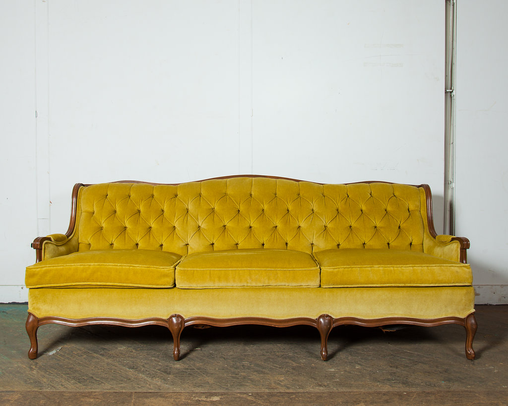 This 1950's Yellow-Green Velour Tufted Sofa is another piece great for adding vibrant, spring color to a space.