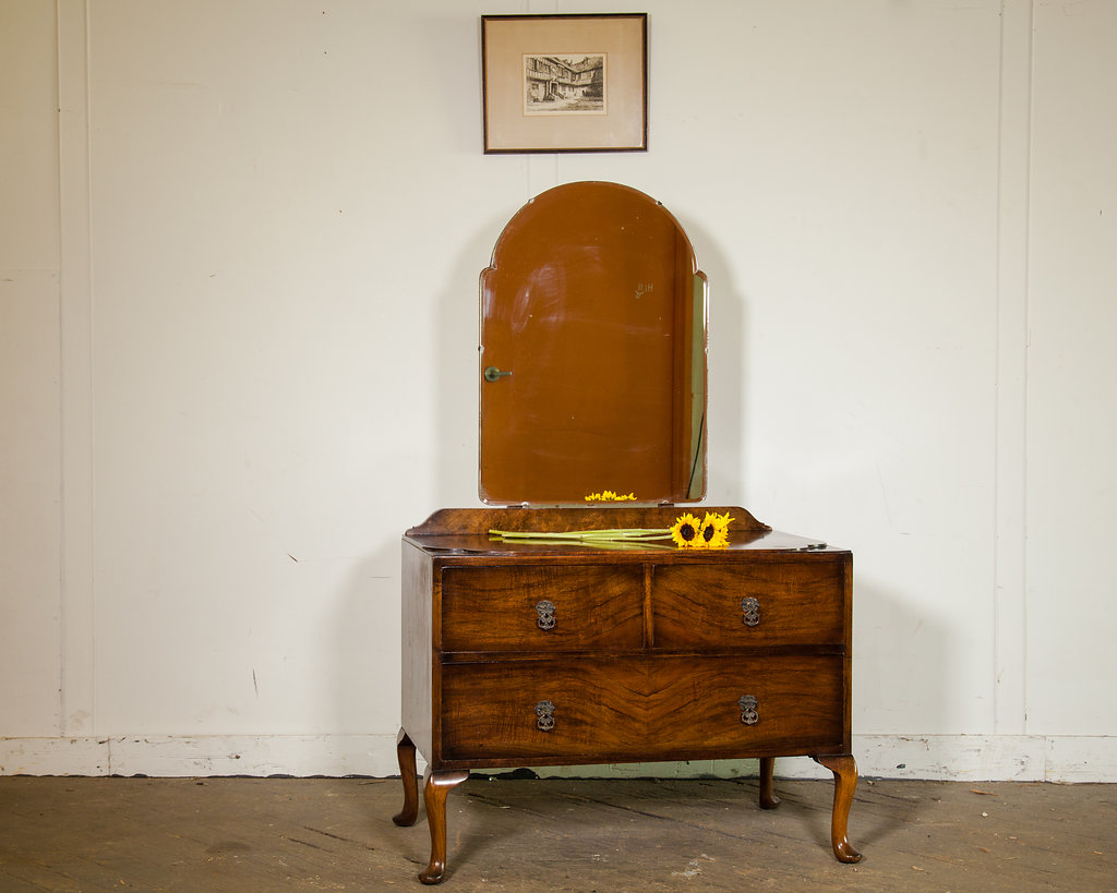 The rich, warm tones from one of many vintage vanities are great for bringing new life to your bedroom.