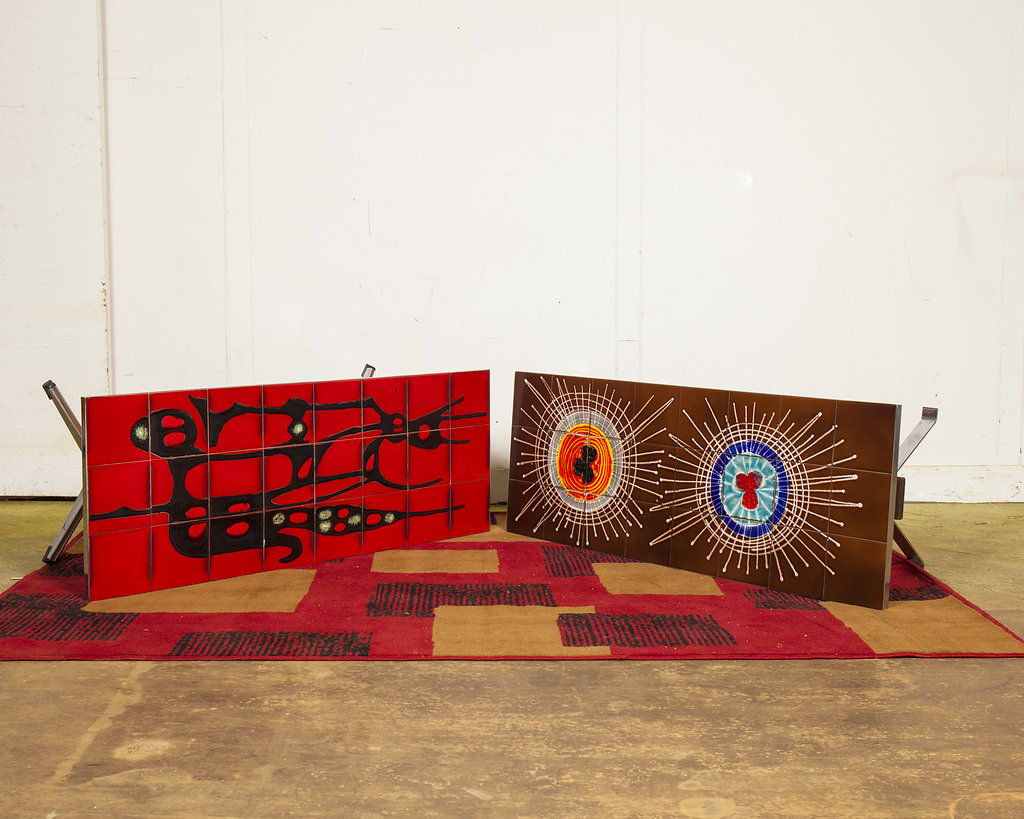 Any of these 1970s Adri Abstract Impressionist Ceramic Coffee Tables will brighten up a room.