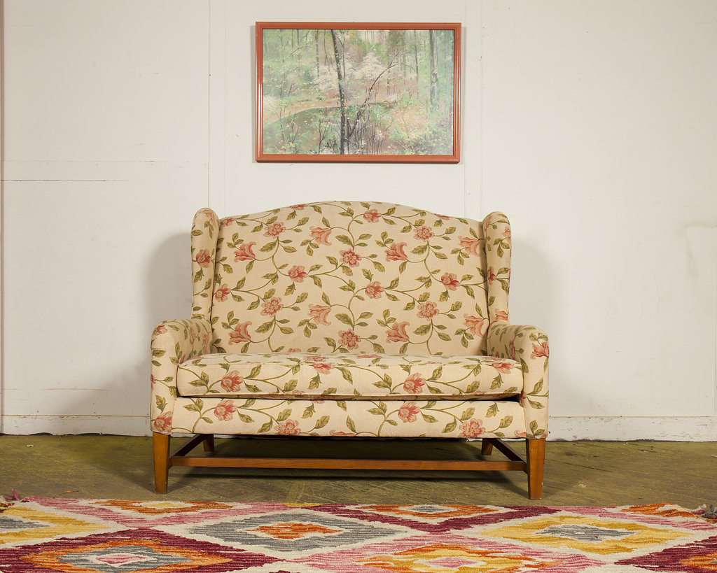 1950s Floral Fabric Reading Bench | $550