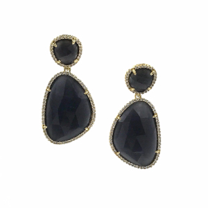 #9 - Ashley Gold Semi-Precious Gold Tone Earrings