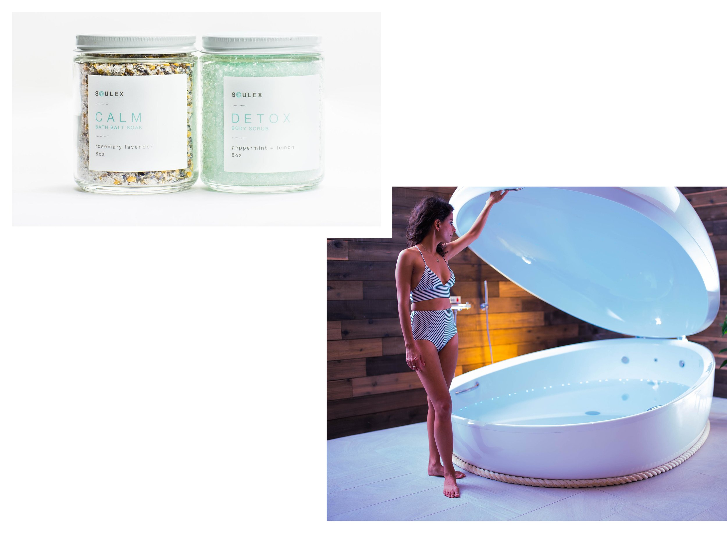 The best Mother's Day gift just got BETTER! - Give your Mom the gift of FLOATING! Treat Mom to a SOULEX Mother's Day Float Package - one blissful hour of floating + a gift set for her to take home and enjoy. A jar of CALM Bath Salt + DETOX Body Scrub!