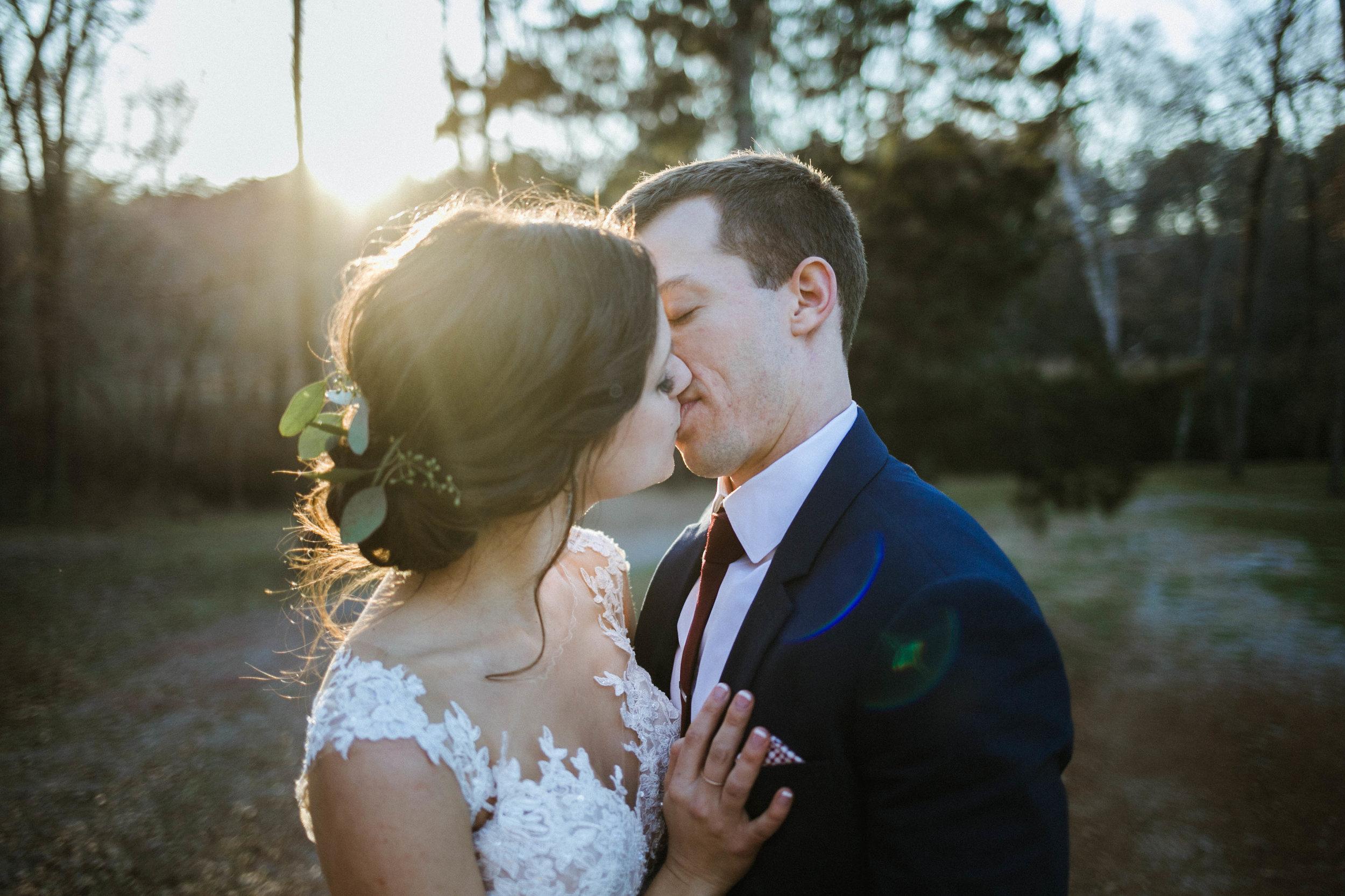 Daniel + Danielle - Creekside meadows winter wedding