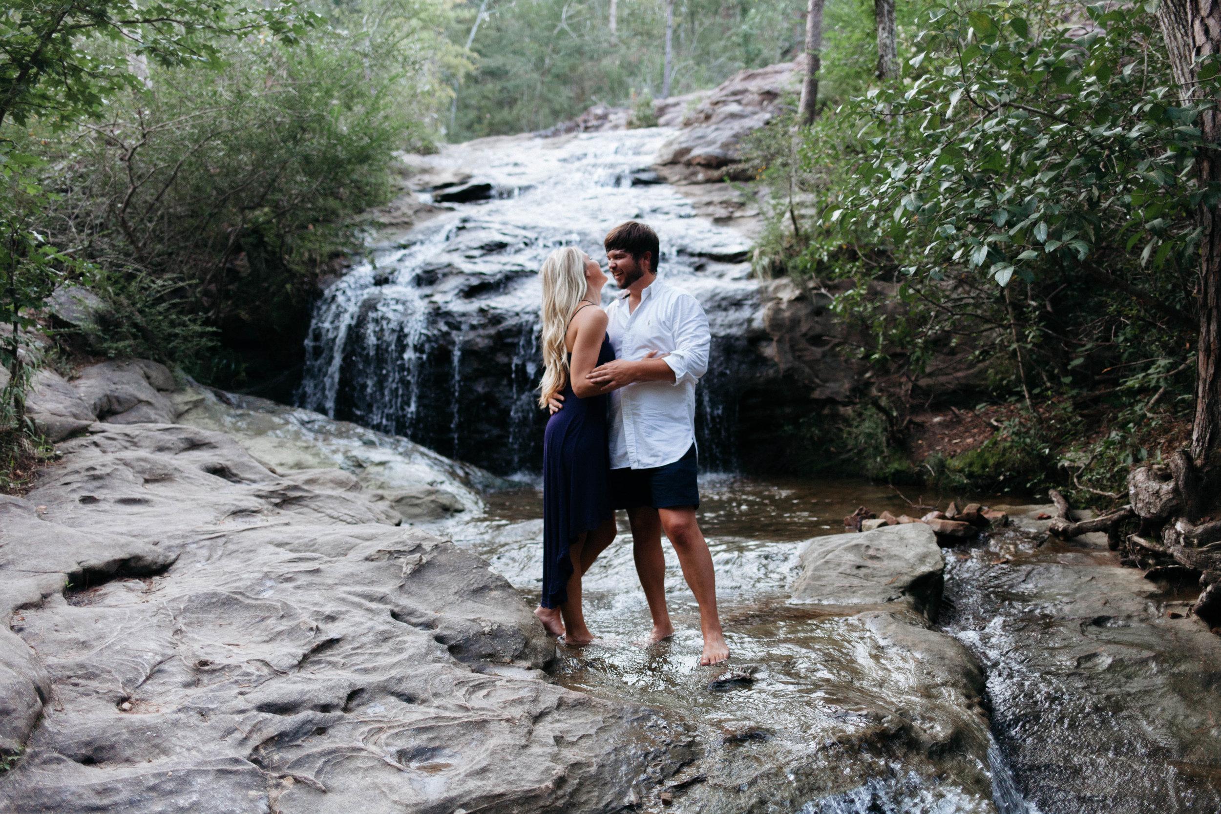 Dustin + Sarah - Takin' a dip in the waterfall