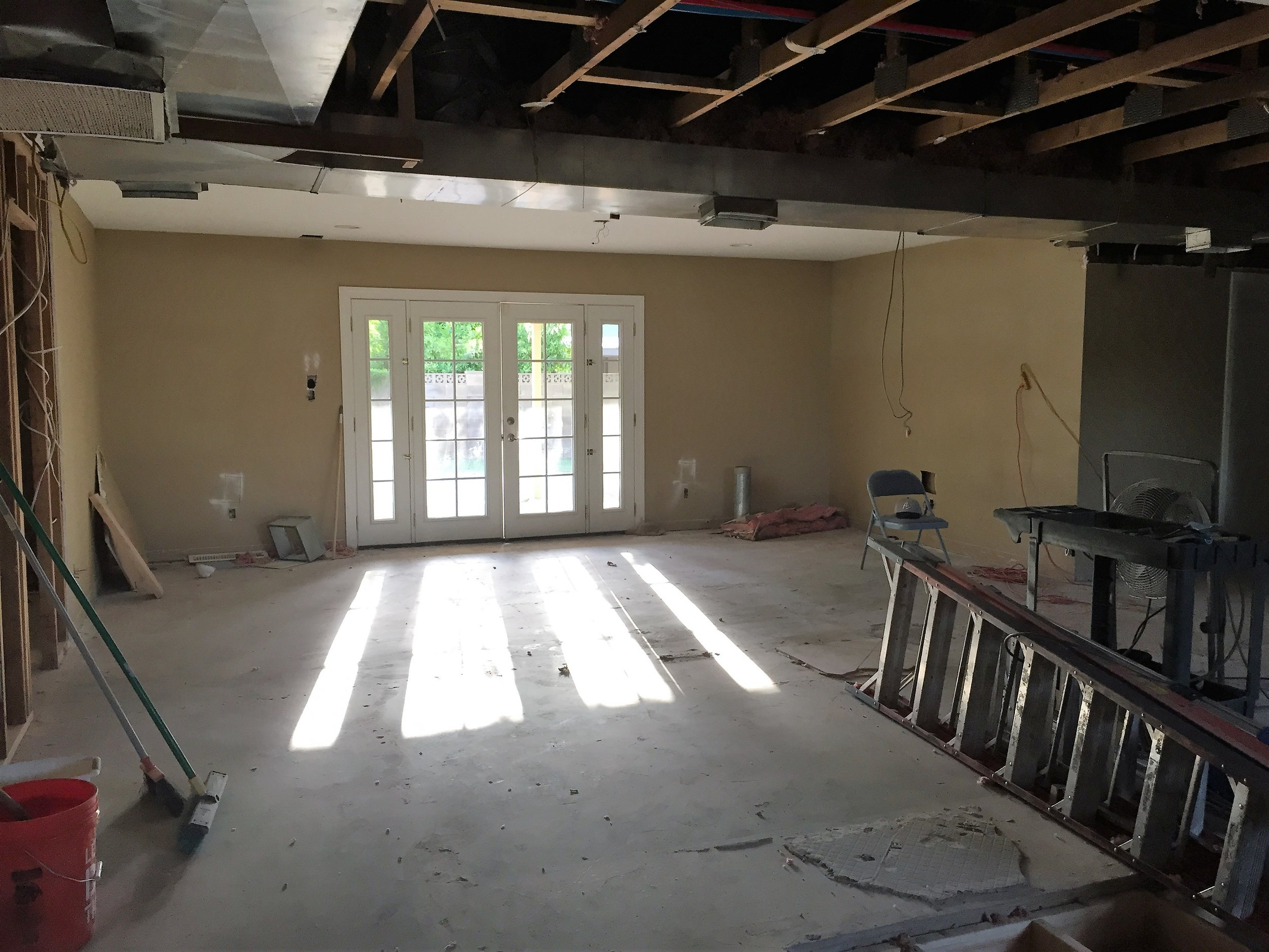 After demo: Family Room (from the left)