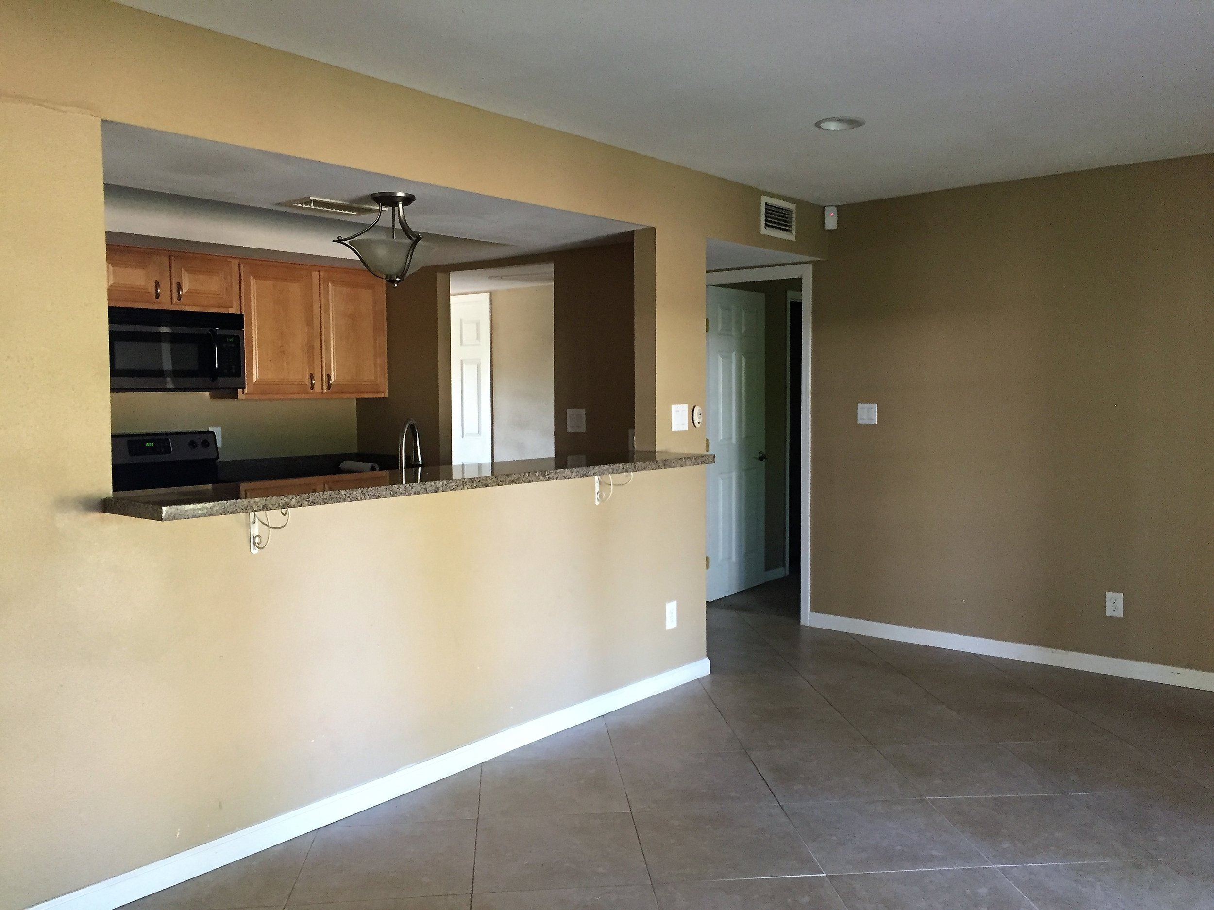 Before demo: Kitchen (from the left)